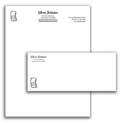 Matching Letterhead and Envelope Template 1