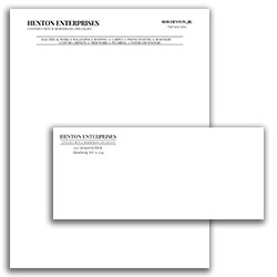 Matching Letterhead and Envelope 9